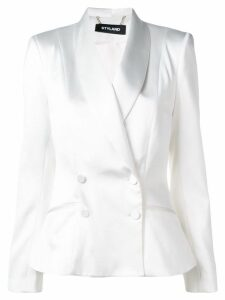 Styland double-breasted blazer - White
