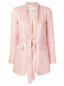 Société Anonyme striped belted jacket - Red