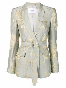 Dondup printed belted blazer - Grey
