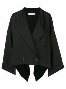 Palmer / Harding double breasted wide blazer - Black