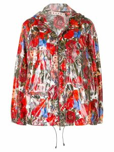 Marni floral zipped jacket - Red