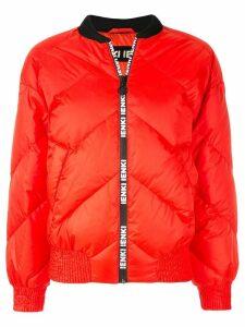 Ienki Ienki logo trim bomber jacket - Red