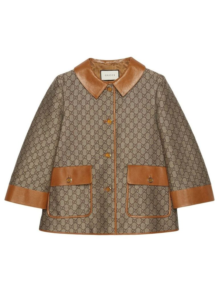 Gucci GG wool canvas jacket - Neutrals