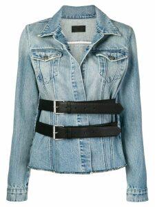 RtA double buckle denim jacket - Blue