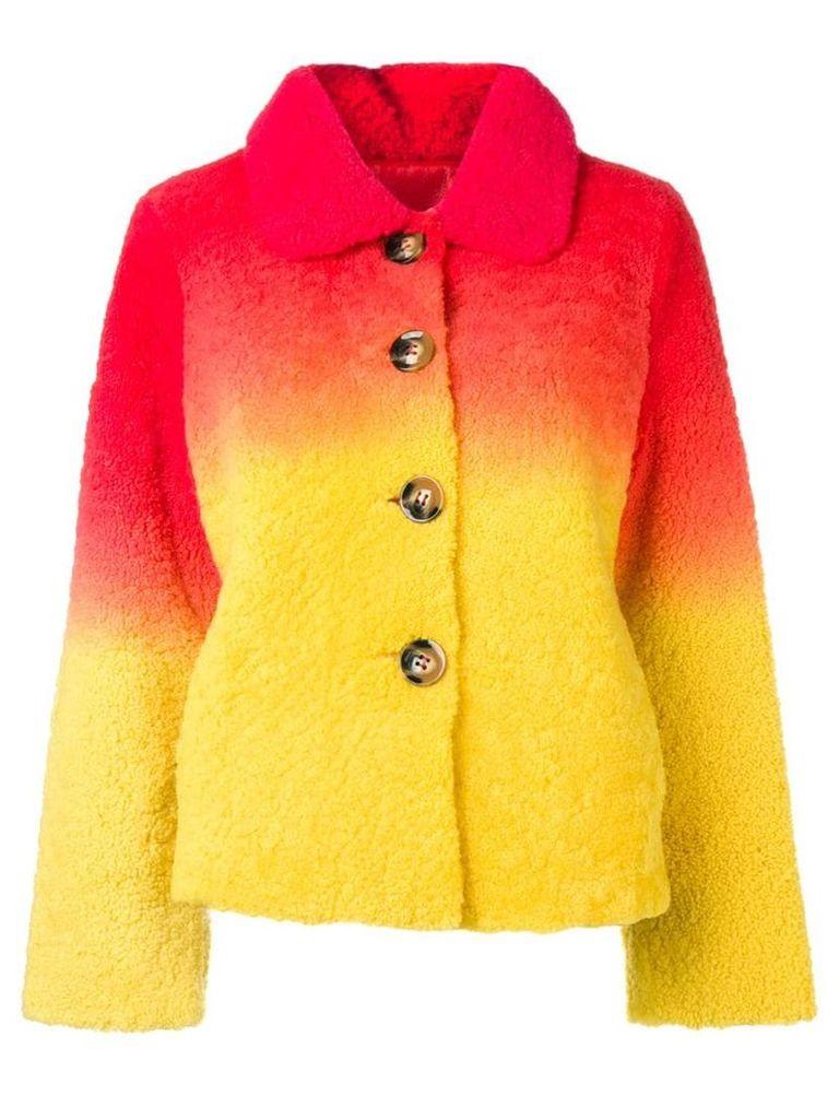 Saks Potts Lucia shearling jacket - Red