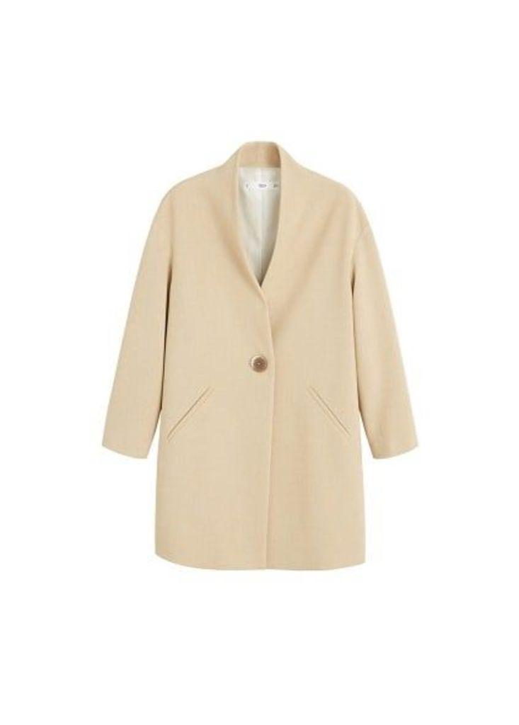 Unstructured button coat