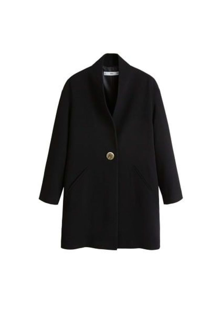 Unstructured button coat