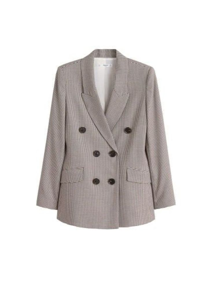Houndstooth structured blazer
