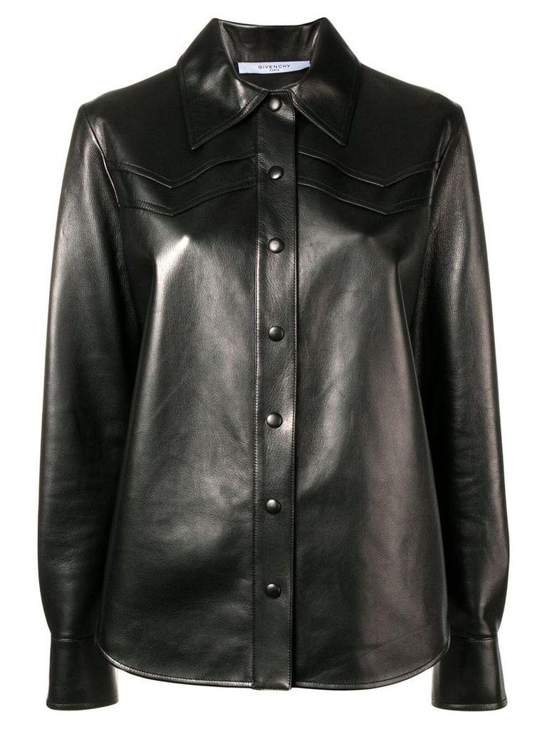 Givenchy lambskin shirt jacket - Black