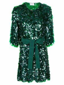 P.A.R.O.S.H. sequin embellished longline jacket - Green