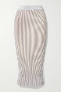 Victoria Beckham - Ribbed Stretch Cotton-blend Turtleneck Sweater - Black