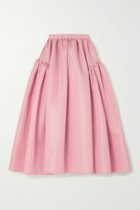 Maggie Marilyn - You Can Hold Your Own Ruffled Polka-dot Silk-satin Dress - Baby pink