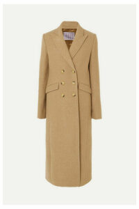 ALEXACHUNG - Double-breasted Boiled Wool Coat - Camel