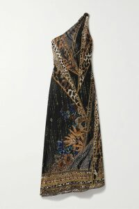 Ann Demeulemeester - Satin-paneled Cotton And Linen-blend Twill Blazer - Black