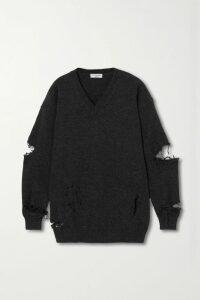 Balenciaga - Gingham Woven Midi Skirt - Black