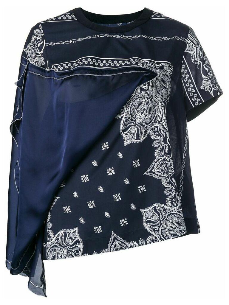 Sacai mandala print blouse - Blue