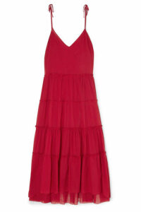 On The Island By Marios Schwab - Nissi Ruffled Tiered Cotton-voile Maxi Dress - IT44