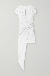 Valentino - Printed Pleated Satin Midi Skirt - Blue