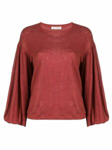 Ulla Johnson bell sleeves blouse - Red