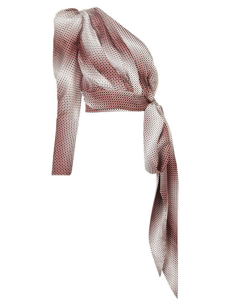 Alexandre Vauthier polka-dot blouse - Red