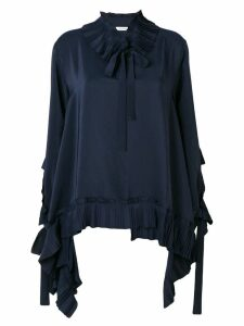 P.A.R.O.S.H. pleated detail blouse - Blue