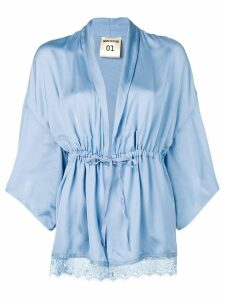 Semicouture plunge blouse - Blue