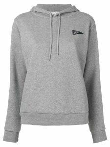 A.P.C. triangle logo print hoodie - Grey