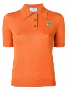 Prada fitted polo shirt - F0033 Ruggine