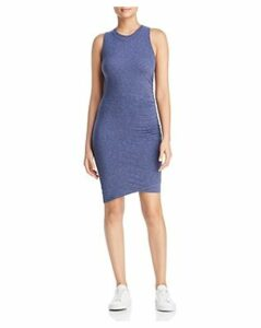 Three Dots Eco-Knit Ruched Overlay Dress