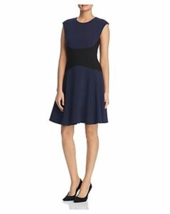 kate spade new york Color-Blocked Crepe Dress