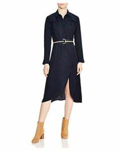 Sandro Marc Dot-Pattern Midi Dress