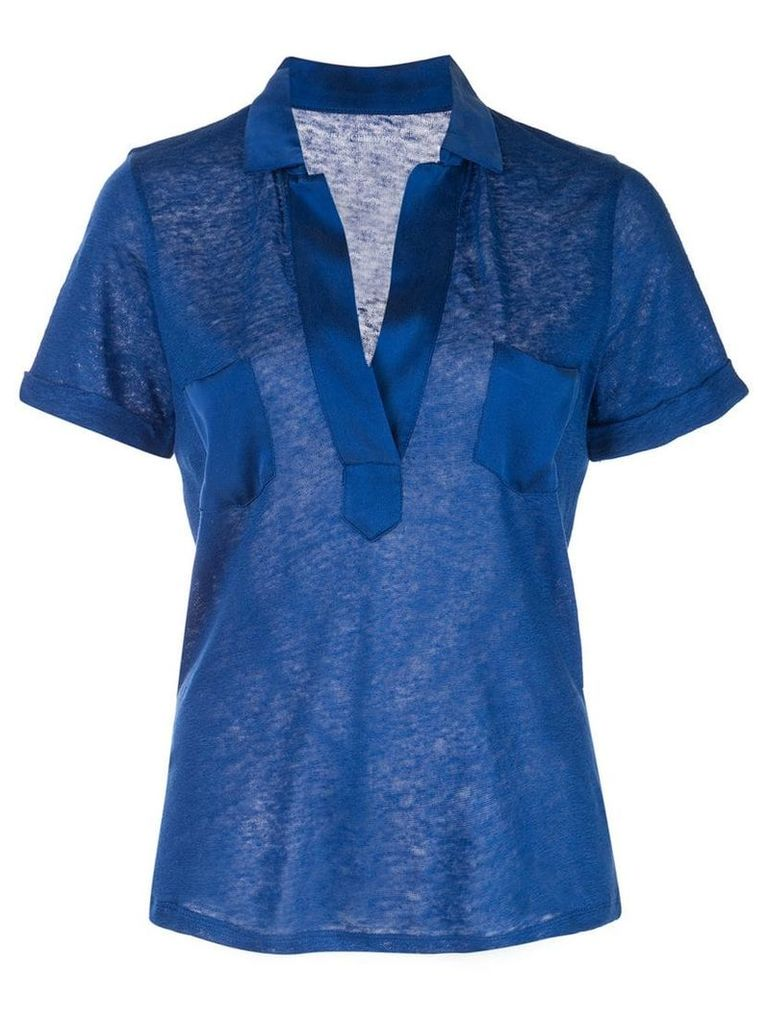 Majestic Filatures fitted shirt - Blue