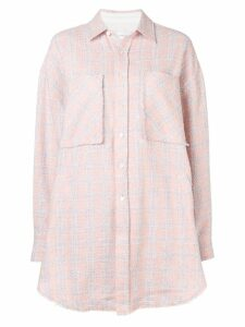 Faith Connexion oversized check shirt - Pink