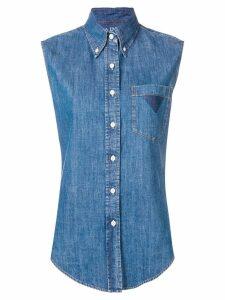 Prada sleeveless denim shirt - Blue
