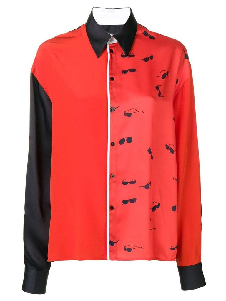 Victoria Victoria Beckham classic two-tone shirt - Red