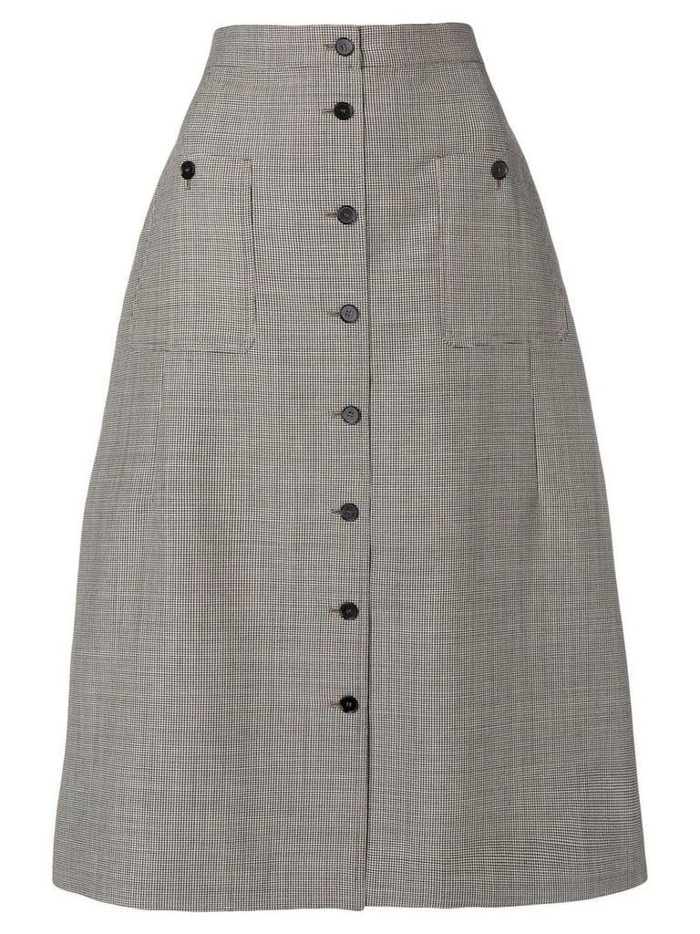Rochas button-up midi skirt - Black