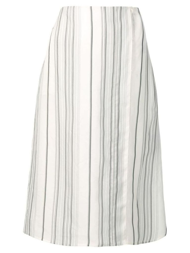 Jil Sander striped midi skirt - Neutrals
