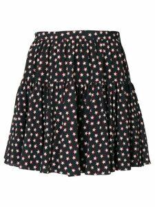 Saint Laurent star printing mini skirt - Black