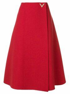 Valentino V hardware skirt - Red