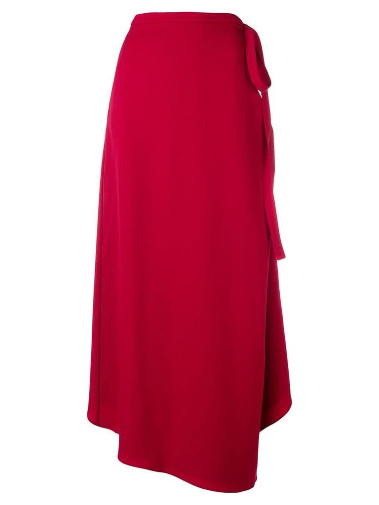 Y/Project asymmetric wrap skirt - Red