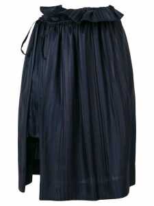 Stella McCartney asymmetric pleated skirt - Blue