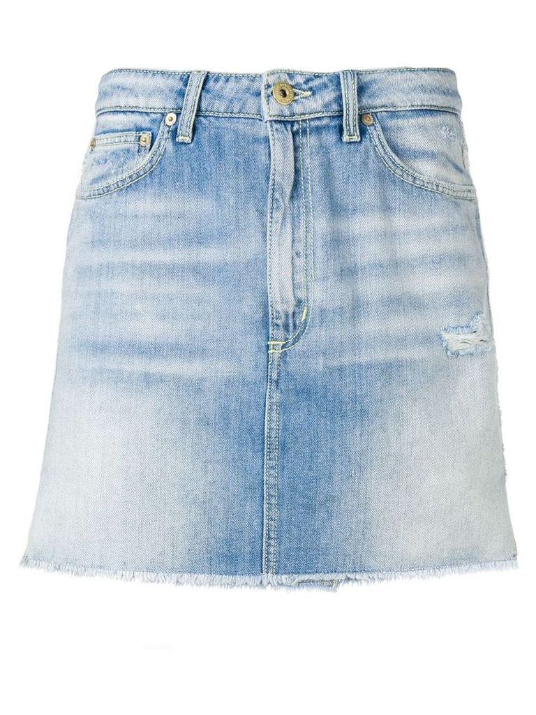 Dondup faded denim skirt - Blue