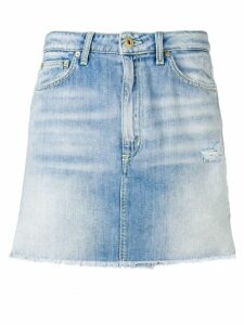 Dondup faded denim skirt - Blue