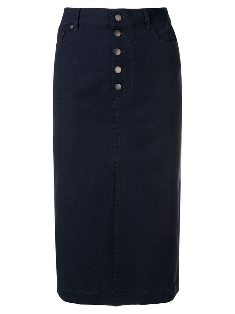 Joseph front slit skirt - Blue