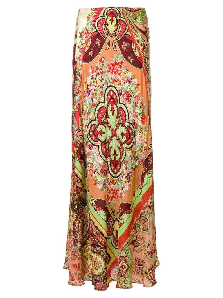 Etro long printed skirt - Red