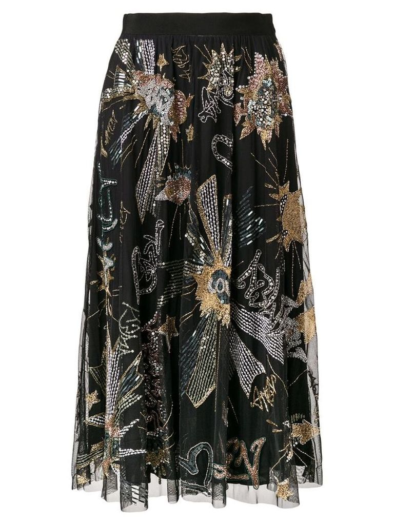 Amen sequin midi skirt - Black
