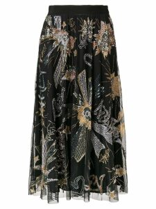 Amen sequin midi skirt - Black