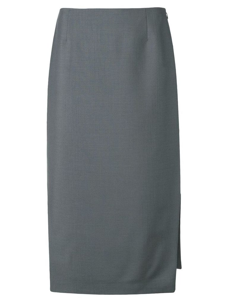 Prada side slit midi skirt - Grey