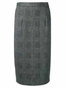 Styland check print pencil skirt - Black