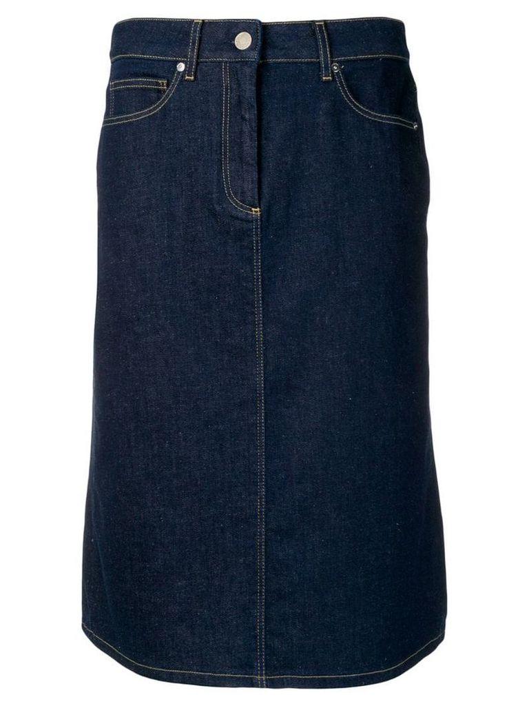 Calvin Klein denim pencil skirt - Blue
